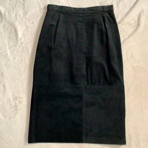 COMINT vintage Leather skirt size 9/10